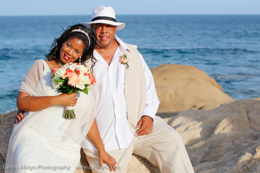 Vow renewal party in Cabo San Lucas Mexico at a luxury villa rental