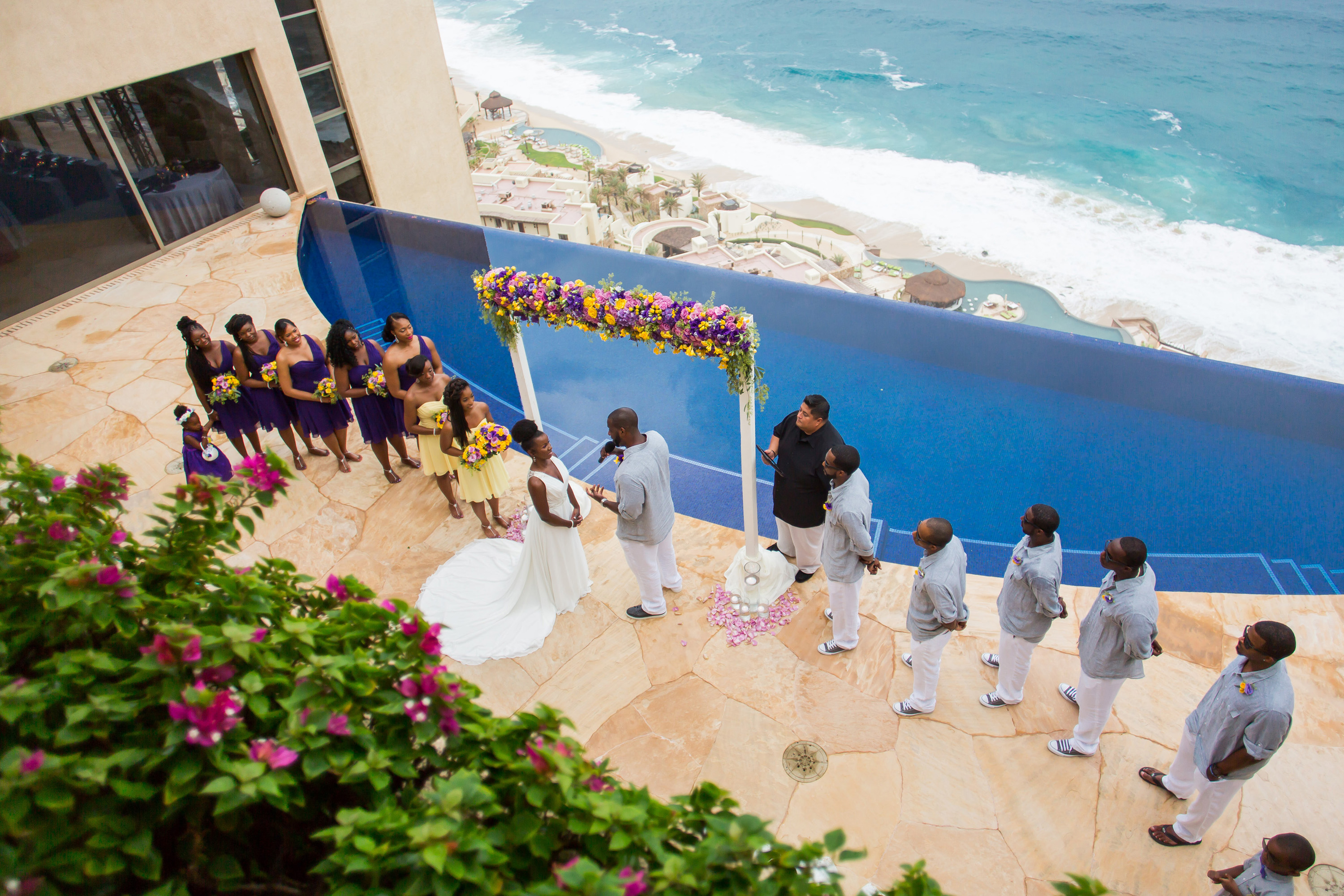 Luxury Los Cabos destination wedding at private vacation rental Villa Bellissima in Cabo San Lucas Mexico CaboVillas.com / CaboSanLucasWeddings.com