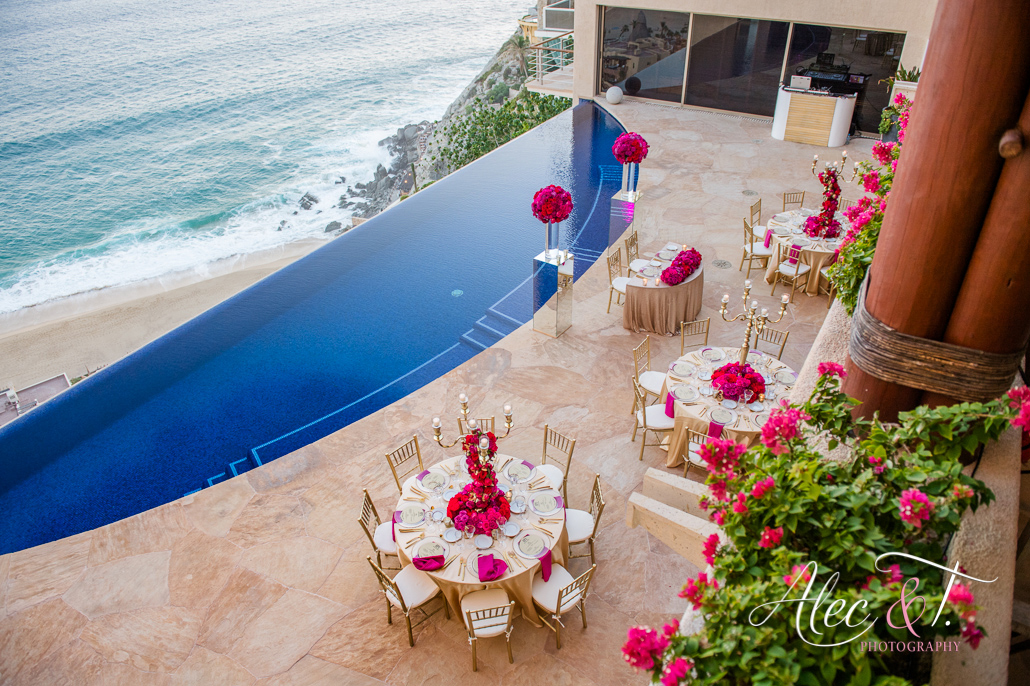 Luxury destination wedding in a private vacation rental at Villa Bellissima in Cabo San Lucas Mexico