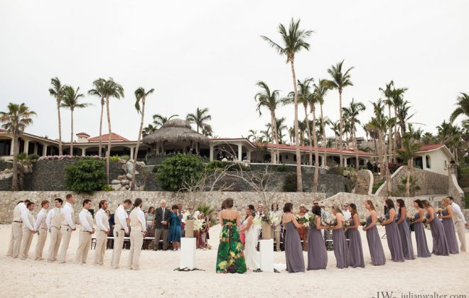 Luxury Destination Wedding in Los Cabos Mexico in a private villa rental
